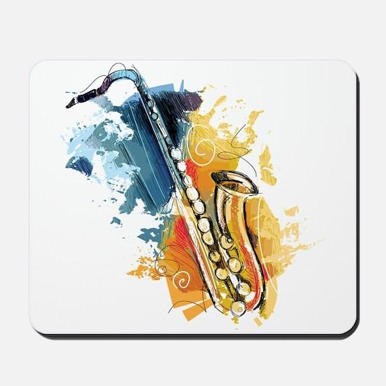 Saxophone Painting Mousepad