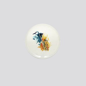 Saxophone Painting Mini Button