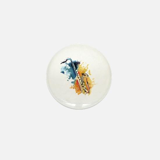 Saxophone Painting Mini Button