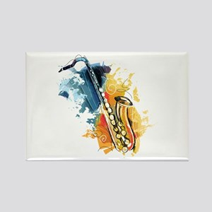 Saxophone Painting Magnets