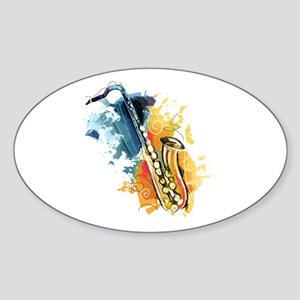 Saxophone Painting Sticker