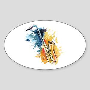 Saxophone Painting Sticker