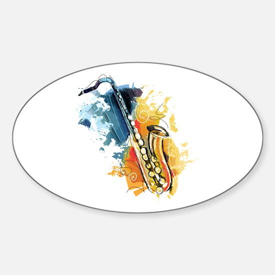 Saxophone Painting Decal