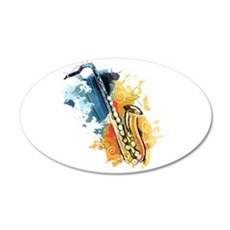 Saxophone Painting Wall Sticker
