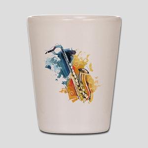 Saxophone Painting Shot Glass
