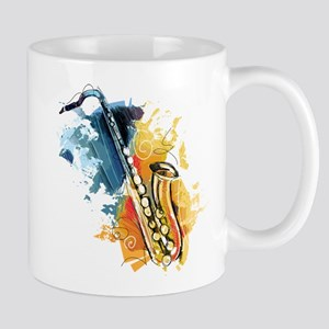 Saxophone Painting Mugs