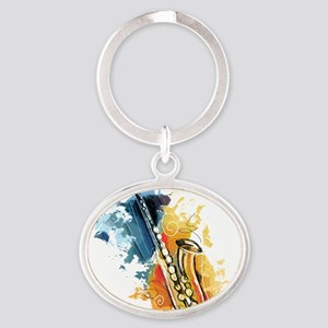Saxophone Painting Keychains