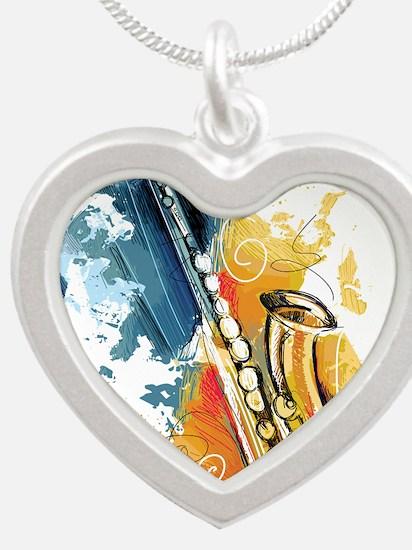 Saxophone Painting Necklaces