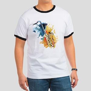 Saxophone Painting T-Shirt
