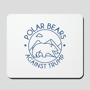 Polar Bears Against Trump Mousepad