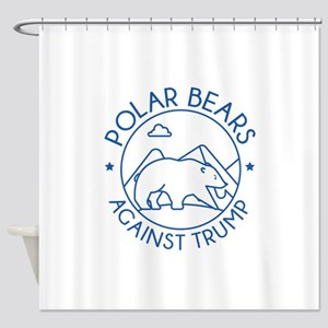 Polar Bears Against Trump Shower Curtain