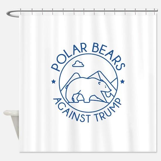 Polar Bears Against Trump Shower Curtain