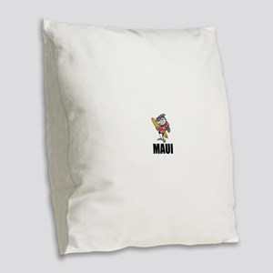 Maui Burlap Throw Pillow