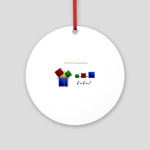 Euclids Pythagorean Theorem Proof R Round Ornament