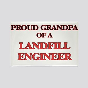 Proud Grandpa of a Landfill Engineer Magnets