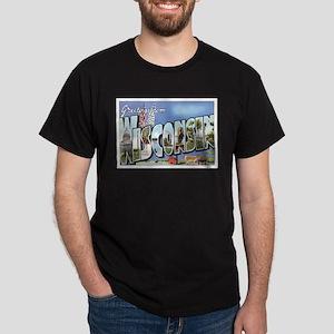Wisconsin Postcard Dark T-Shirt