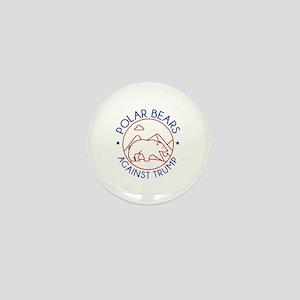 Polar Bears Against Trump Mini Button