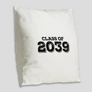 Class of 2039 Burlap Throw Pillow