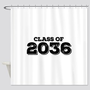 Class of 2036 Shower Curtain