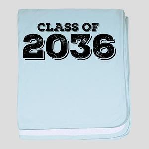 Class of 2036 baby blanket
