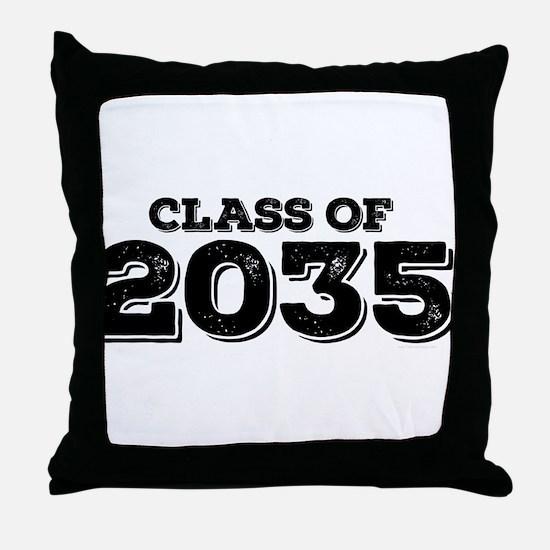 Class of 2035 Throw Pillow