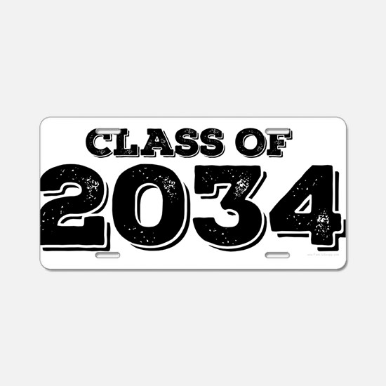 Class of 2034 Aluminum License Plate