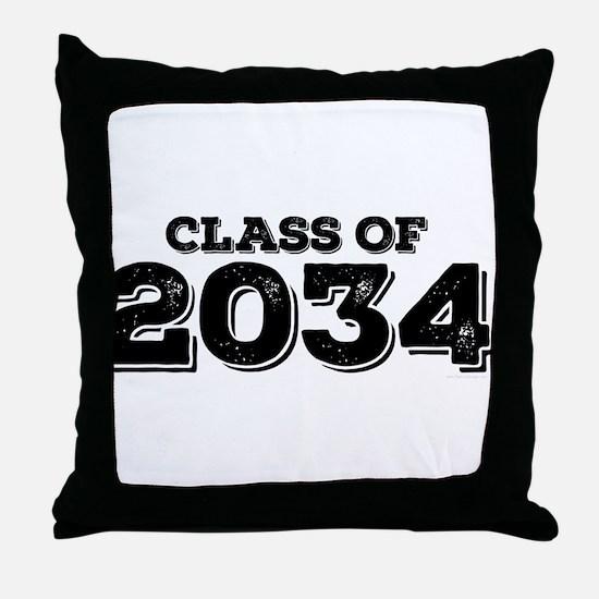 Class of 2034 Throw Pillow
