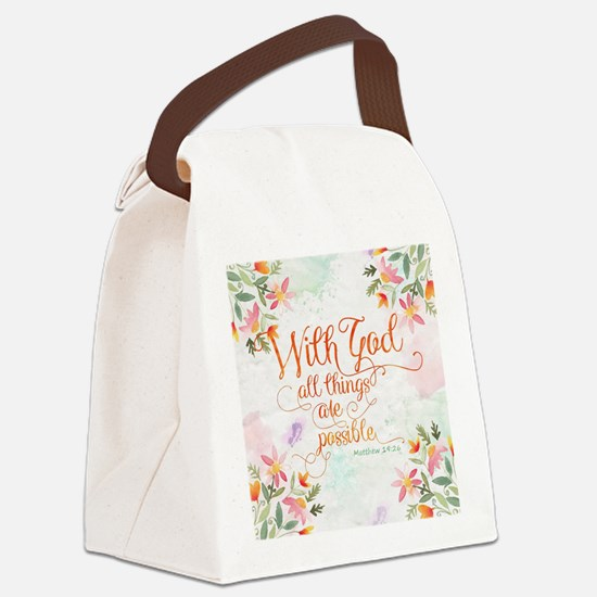 With God Canvas Lunch Bag