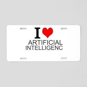 I Love Artificial Intelligence Aluminum License Pl