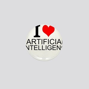 I Love Artificial Intelligence Mini Button