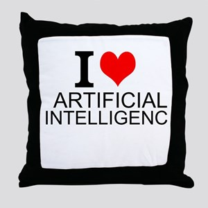 I Love Artificial Intelligence Throw Pillow