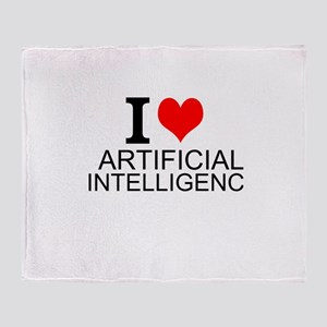 I Love Artificial Intelligence Throw Blanket