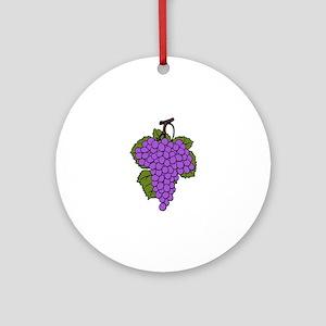 Grape cluster Round Ornament