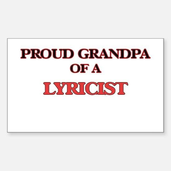 Proud Grandpa of a Lyricist Decal