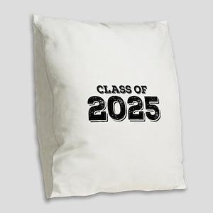 Class of 2025 Burlap Throw Pillow