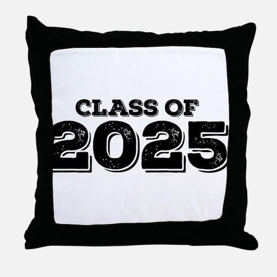 Class of 2025 Throw Pillow