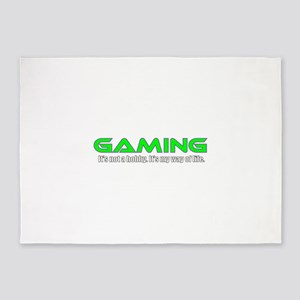Gaming Is Life 5'x7'Area Rug