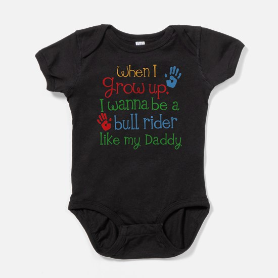 Bull Rider Like Daddy Baby Bodysuit