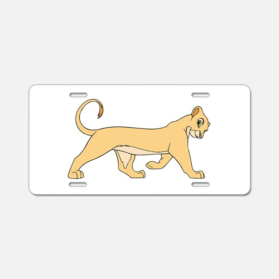 The Lion King lioness Aluminum License Plate