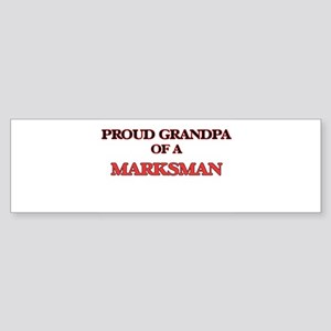 Proud Grandpa of a Marksman Bumper Sticker