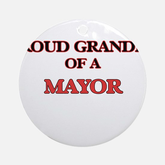 Proud Grandpa of a Mayor Round Ornament