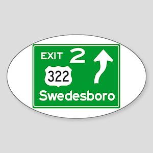 NJTP Logo-free Exit 2 Swedesboro Sticker