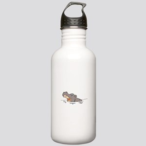 Hippo in Water Stainless Water Bottle 1.0L