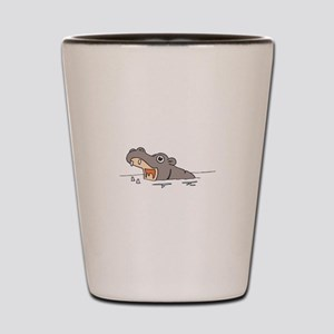 Hippo in Water Shot Glass