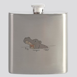 Hippo in Water Flask