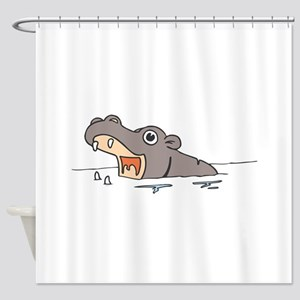 Hippo in Water Shower Curtain