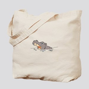 Hippo in Water Tote Bag