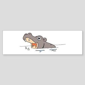 Hippo in Water Bumper Sticker