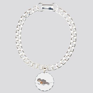 Hippo in Water Charm Bracelet, One Charm