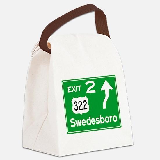 NJTP Logo-free Exit 2 Swedesboro Canvas Lunch Bag
